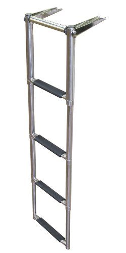 JIF Marine EQB4 Over Platform Telescoping Boat Ladder, 4-Step