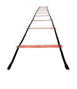 Champion Sports Rubber Agility Ladder, 13′, Bright Red