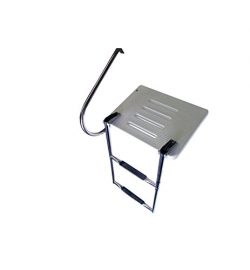 Pactrade Marine Boat Universal Swim Over Platform Mount Telescopic Ladder, 2 Step in/Outboard On ...