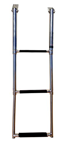Pactrade Marine Boat Stainless Steel 3 Step Telescopic Ladder Swim Step Over Platform