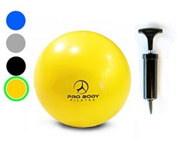 Mini Exercise Ball with Pump – 9 Inch Small Bender Ball for Stability, Barre, Pilates, Yog ...