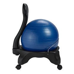 Gaiam Balance Ball Chair – Exercise Stability Yoga Ball Premium Ergonomic Chair for Home and Off ...