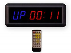 Eu 1.5″ 6 Digits Interval Timer Programmable Led Countdown/Up Stopwatch For Home Garage Gy ...