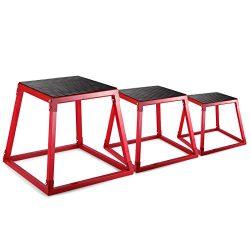 ShunLight Plyometric Platform Box Exercise Jump Boxes Fitness Height Step Boxes Training Set 12& ...
