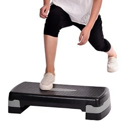 "Adjustable 26"" Aerobic Step Aerobics Trainer Adjustable Exercise Fitness Workout Stepper ( ..."