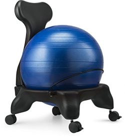 Ball Chair, LuxFit Premium Fitness Exercise Ball Chairs For Home And Office 2 Year Warranty! Wit ...