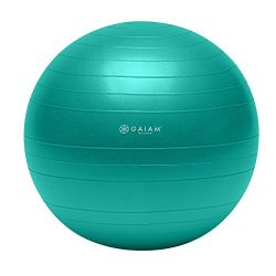 Gaiam Total Body Balance Ball Kit – Includes 65cm Anti-Burst Stability Exercise Yoga Ball, ...