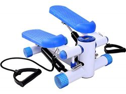 Gymax Fitness Twister Stepper w/ Resistance Bands, Cardio Air Climber Stepper Stair Step Machine ...