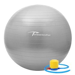 Timberbrother Anti-Burst Exercise Stability Ball/Fitness Ball/Balance Ball with Foot Pump &#8211 ...