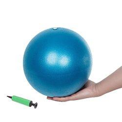 Small Exercise Ball, Mini Fitness Ball for Barre Pilates Balance Gym Yoga Balance Stability Bend ...