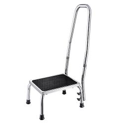 AW Medical Step Footstool W/Handle & Non Skid Rubber Platform 500lbs Weight Limit