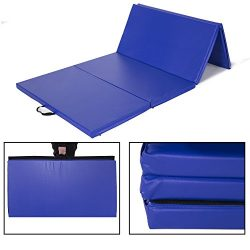 Sportmad 4'x8'x2″ Gymnastics Mat Folding Tumbling Exercise Mats Thick Panel fo ...