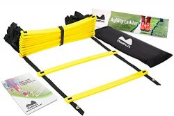 REEHUT Durable Agility Ladder W/Bonus Carry Bag – Speed Training Equipment For High Intens ...