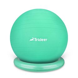 Trideer Exercise Ball Chair, 65cm&75cm Stability Ball with Ring & Pump, Flexible Seating ...