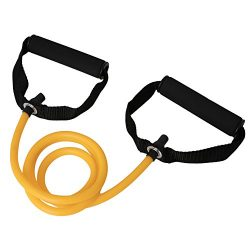 ULKEME Latex Elastic Resistance Band Pilates Tube Pull Rope Gym Yoga Fitness Equipment Yellow