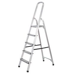 Goplus? Foldable 5 Step Ladder Non-slip 330 lbs Capacity Platform Aluminum New by Goplus