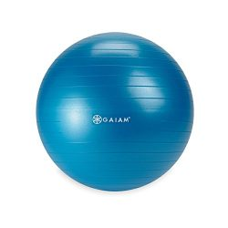 Gaiam Kids Balance Ball – Anti-Burst Exercise Stability Ball for Kids with Air Pump, Blue, ...