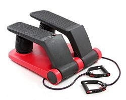 Air Stepper Climber Exercise Fitness Thigh Machine For Home Workout Gym (red & black)