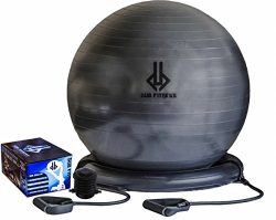 Dub Fitness,1500 lbs, Strength Exercise Stability Ball w Pump Home Gym Fitness 65 centimeters,   ...