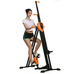 ANCHEER Vertical Climber 2 In 1 Folding Exercise Climbing Machine Full Total Body Workout Fitnes ...
