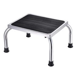 AW Portable Medical Step Footstool W/Non Skid Rubber Platform 500lbs Weight Limit