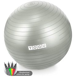 Yogu Stability Exercise Ball 65cm Balance Ball Birthing Ball with Air Pump Anti-Slip & Anti- ...