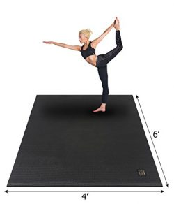 Gxmmat Large Yoga Mat 72″x 48″(6'x4′) x 7mm for Pilates Stretching Home  ...