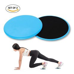 4-FQ Gliding Discs Core Workout Exercise Sliders 2 Dual Sided Gliding Sliding Discs for Core Fit ...