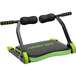 Merax Abdominal Exercise Trainer AB Fitness Machine Total Body Workout Home Gym Equipment (Green)