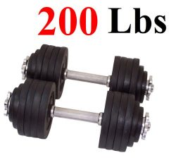 One Pair of Adjustable Dumbbells Kits – 200 Lbs (100lbs X 2pc)