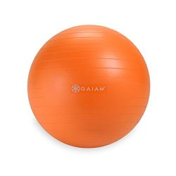 Gaiam Kids Balance Ball – Anti-Burst Exercise Stability Ball for Kids with Air Pump, Orang ...