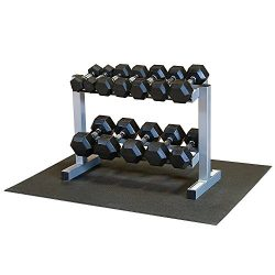 Powerline PDR282X-RFWS Dumbbell Rack with Rubber Dumbbells