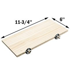 "Natural Wood Stand Platform 6''x12"" For Hamster Mice Chinchilla Chipmunk, Small Animals Ha ..."