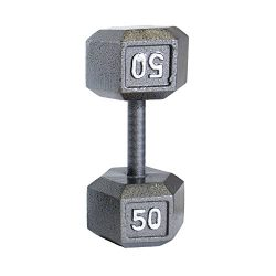 Cap Barbell Solid Hex Single Dumbbell (50-Pound)