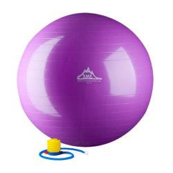 Black Mountain Products 2000-Pound Anti Burst Exercise Stability Ball with Pump, Purple, 55cm