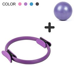 DANLIAWOMEN pilates ring circle physical therapy mini small ball for inner thigh exercise fitnes ...