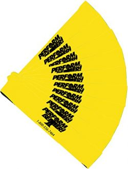 Perform Better Exercise Mini Band, Yellow-Light – Set of 10 (Exercise Guide Included)