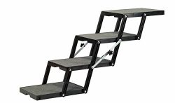 Pet Loader Ultra Light 14.5″ Platform, 4-Step with wheels