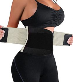 HURMES Waist Trainer Belt for Women – Waist Cincher Trimmer Slimmer Body Shaper Belt (Beig ...