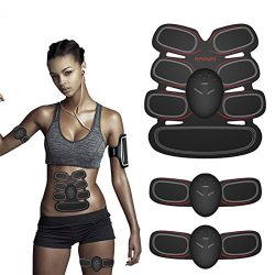 Muscle Toner ABS Stimulator Portable Muscle Trainer EMS Abdominal Trainer Fat Burner Home Office ...