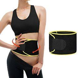 Magland Sweat Waist Trimmer, Neoprene Waist Trainer Belt for Women Weight Loss and Slim Waist li ...