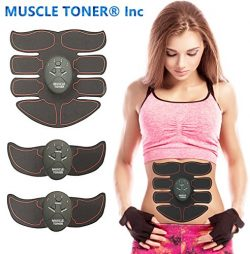 MUSCLE TONER ABS STIMULATOR Portable Muscle Trainer with Rhythm & Soft impulse – 6 Mod ...