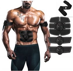 Muscle Toner, Muscle Trainer, EMS Abdominal Muscle Stick, Wireless Remote Control Abdominal Musc ...