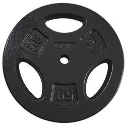 CAP Barbell Standard Grip Plate, Black, 50 lb