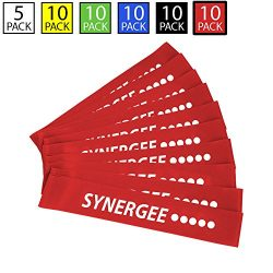 iheartsynergee 10 Pack Mini Band Resistance Loop Exercise Bands Red XX-Heavy Resistance
