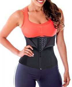 Waist Trainer Corset Weight Loss Workout Body Shapers Latex Shapewear Trimmer Black XL