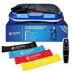 LifePro Power Plate Exercise Machine – Full Body Workout Vibration Fitness Platform w/Loop ...
