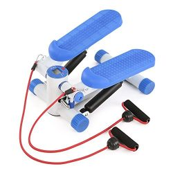 TOMSHOO Mini Stepper Machine Twisting Stair Step with Resistance Bands Home Fitness Elliptical T ...