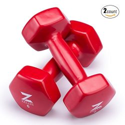 Z ZELUS Cast Iron Vinyl Coated Dumbbells Hand Weights for Women/Men Workout (Set of 2) (6)