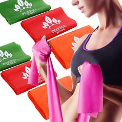 Micrael Home Solid Exercise Resistance Band Set of 3 Long Fitness Stretch Bands Home Gym Kit For ...